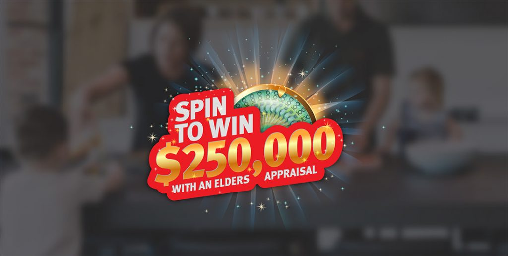 Spin to win banner